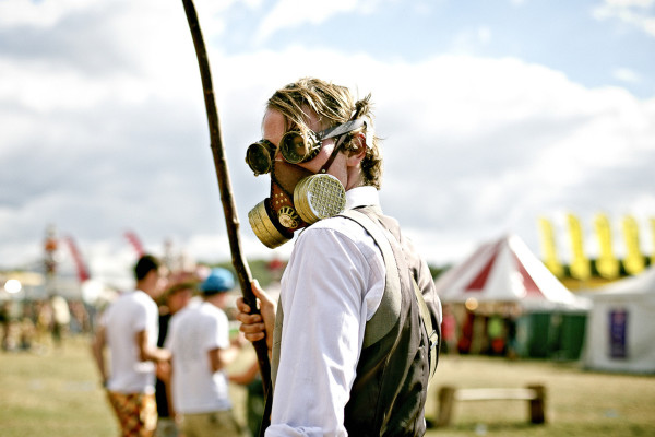 steampunk with gas mask