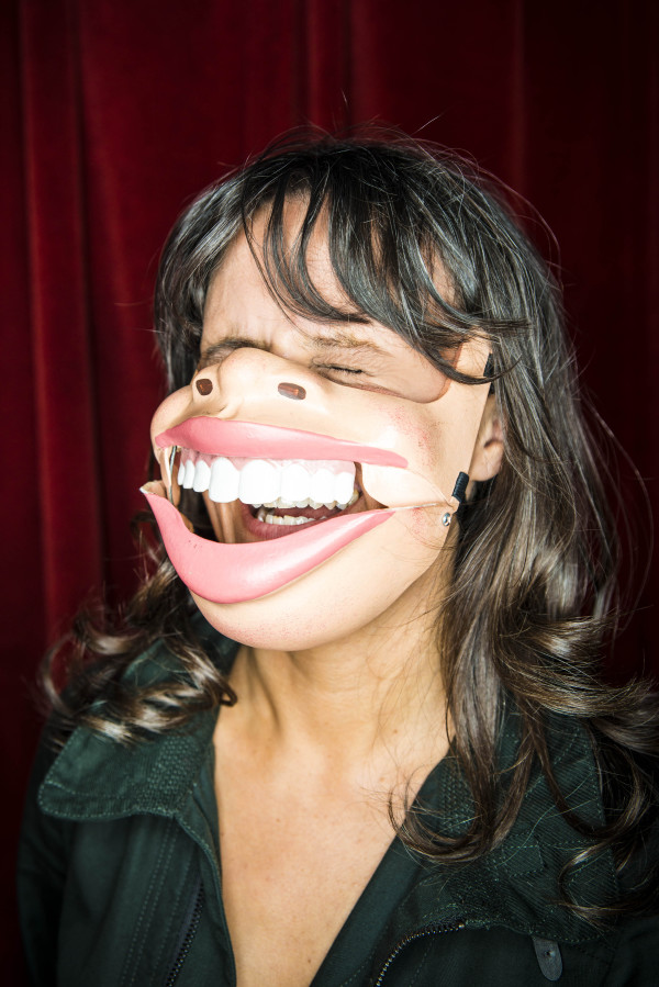 nina - mask laughing (credit matt crockett)